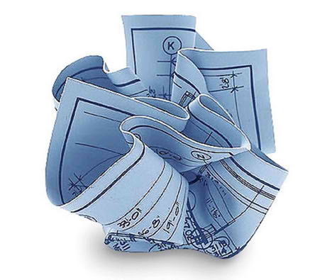 Blueprint Paperweight and Contour Topoware