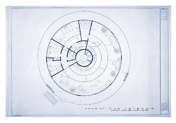 Blueprint Of Houses The Jetson Flintstone And Star Wars