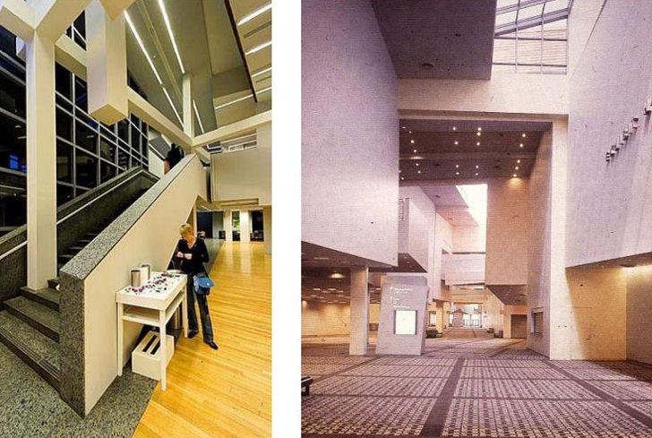 peter eisenman wexner center stairs lobby
