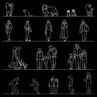 Download Free AutoCAD Human Figure Library
