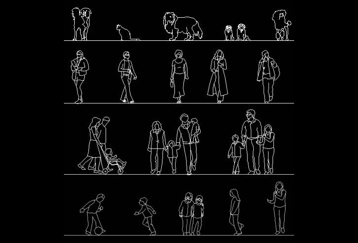 Download free autocad human figure library for Dwg templates free download