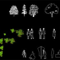 Download FREE AutoCAD Architecture Blocks / Library – Furniture, People, Trees And Vehicle