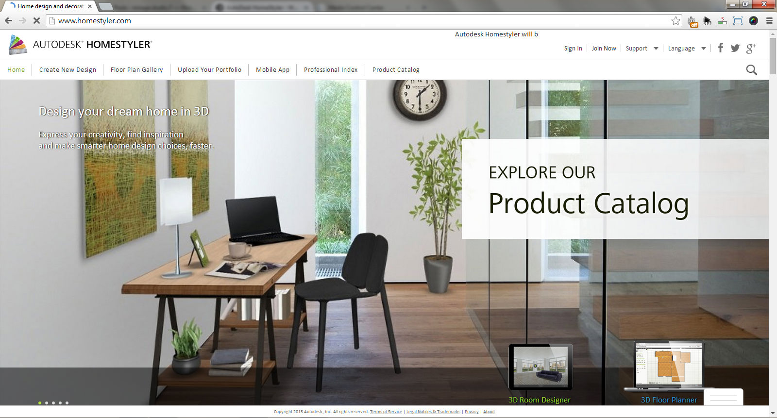 Autodesk homestyler web based interior design software Home decor website
