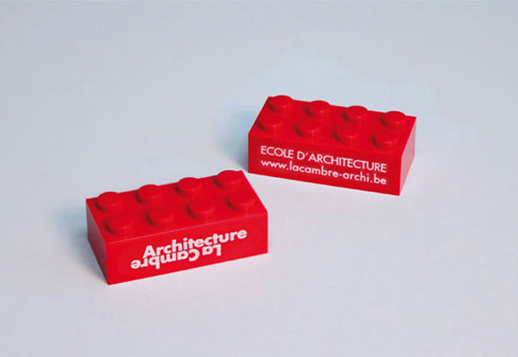 12 creative business cards for architects for Lego business cards