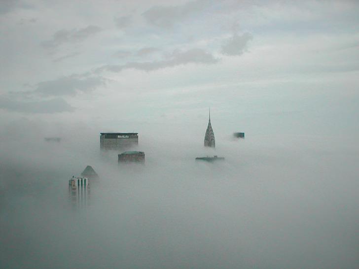 new york Skyscrapers cloud clouds