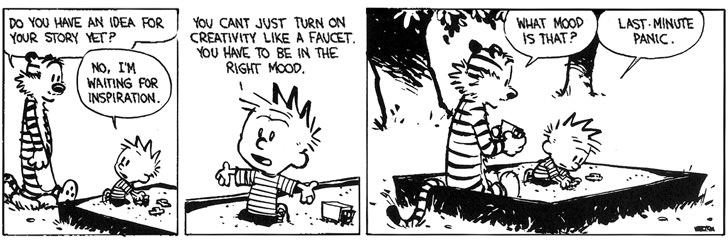 calvin hobbes last minute panic motivation