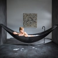 Vessel – Hammock Shaped Bathtub by SplinterWorks