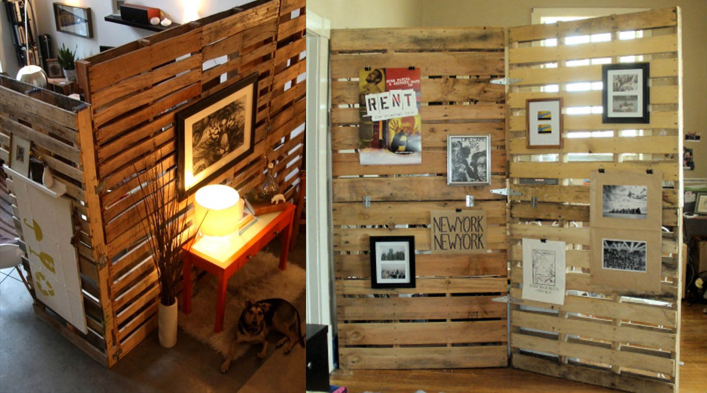 Superieur Wooden Pallet Room Divider