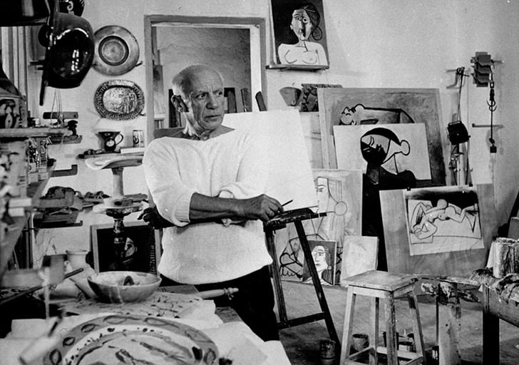 Picasso Studio 1953 Work Spaces Of Creative And Successful People