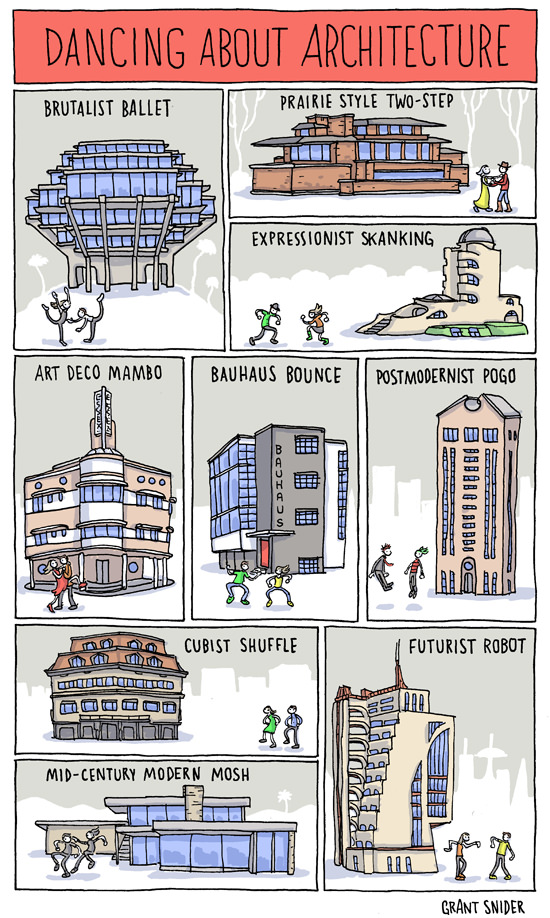 Dancing about architecture Incidental Comics on Architecture Design and Architects instagram facebook twitter pinterest