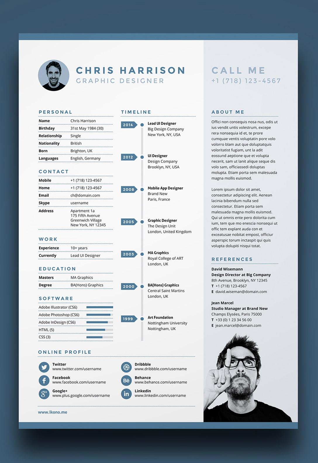 Resume In Indesign Cs6